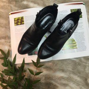 Ralph Lauren black leather booties